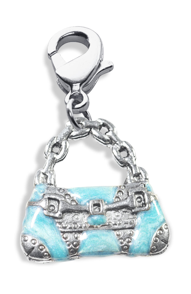 Retro Purse Charm Dangle in Silver