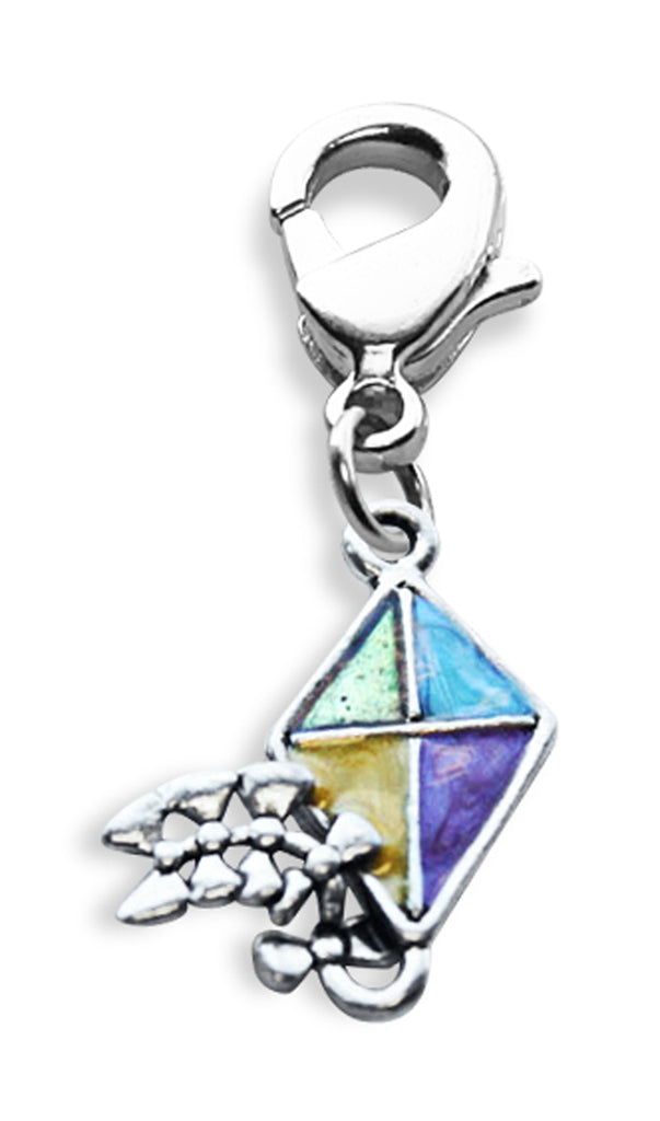 Kite Charm Dangle in Silver