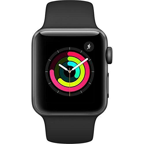Apple Smart Watch 38mm Watch Series 3 - GPS - Space Gray Aluminum Case with Black Sport Band