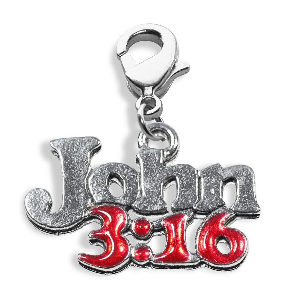 John 3:16 Charm Dangle in Silver