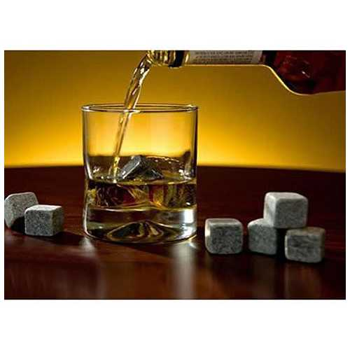 Whiskey on THE ROCKS - Pure Soapstone Rocks set of 9