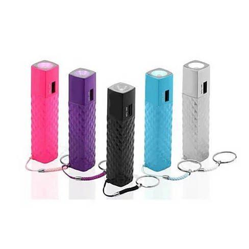 Lipstick Case Style Phone Charger and Flashlight on a Keychain