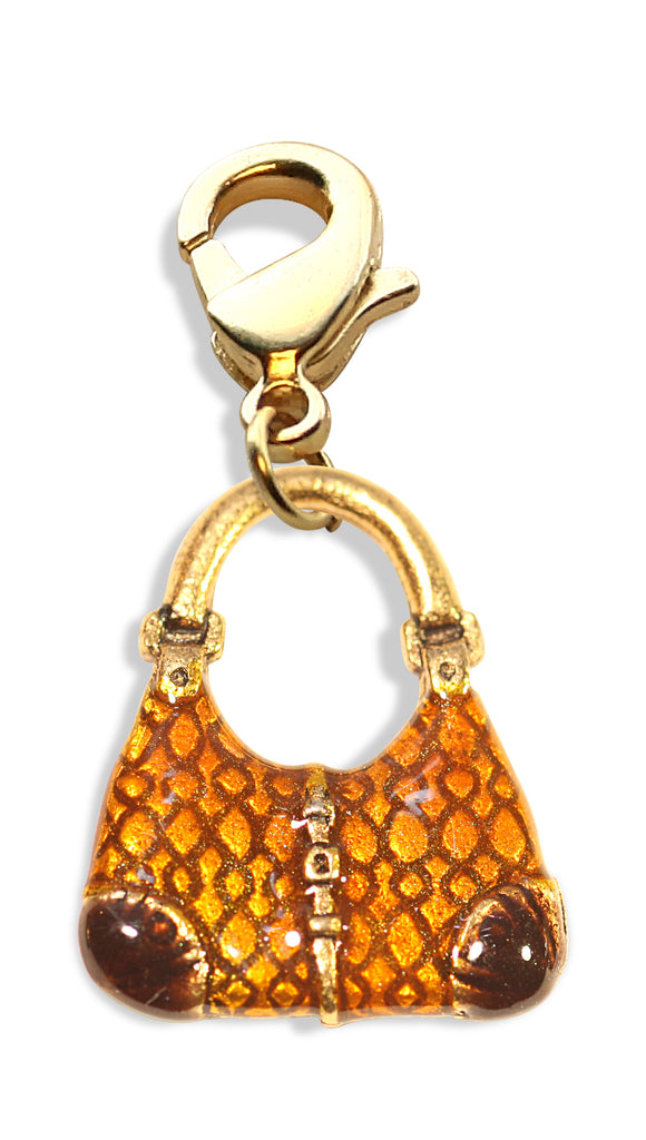Reptile Purse Charm Dangle in Gold