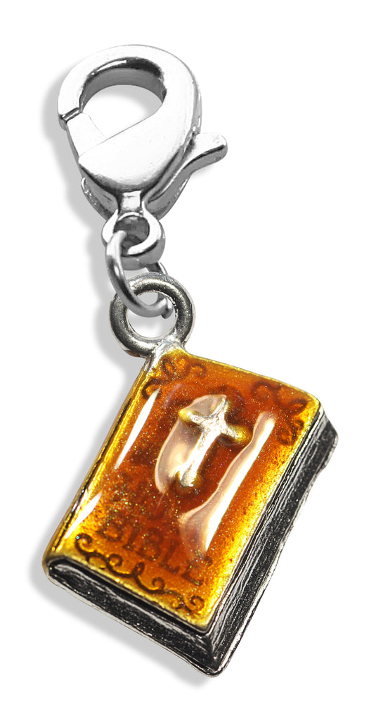 Holy Bible Charm Dangle in Silver