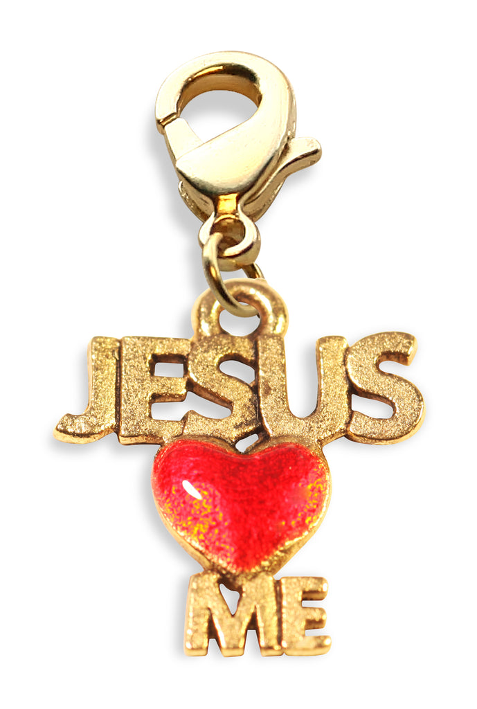 Jesus Loves Me Charm Dangle in Gold