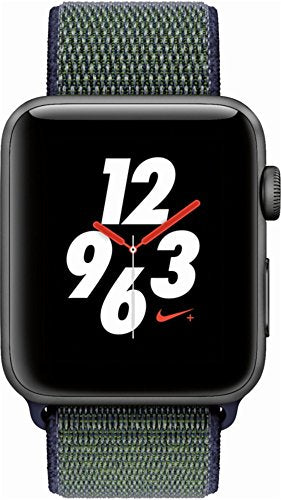 Apple Watch Nike+ Series 3 42mm Space Gray Aluminum Case with Midnight Fog Nike Sport Loop (GPS +