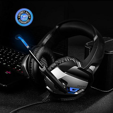 ONIKUMA Gaming Headset for PS, XBox, Nintendo, & PC, with LED Lights & Noise-canceling Microphone