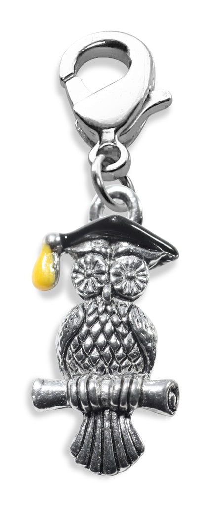 Owl Charm Dangle in Silver