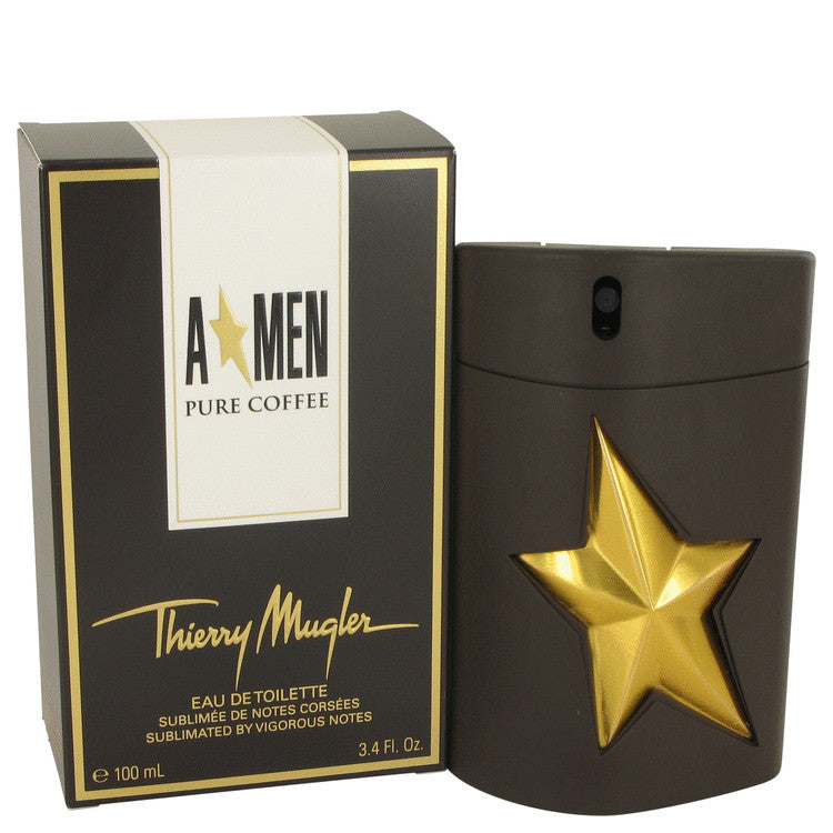 Angel Pure Coffee by Thierry Mugler Eau De Toilette Spray 3.4 oz (Men)