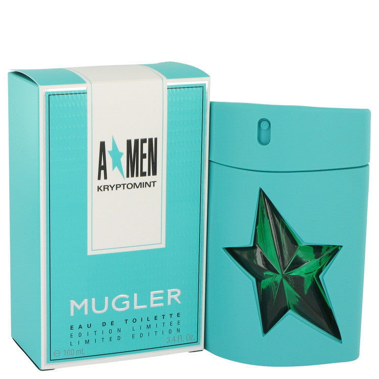 Angel Kryptomint by Thierry Mugler Eau De Toilette Spray 3.4 oz (Men)