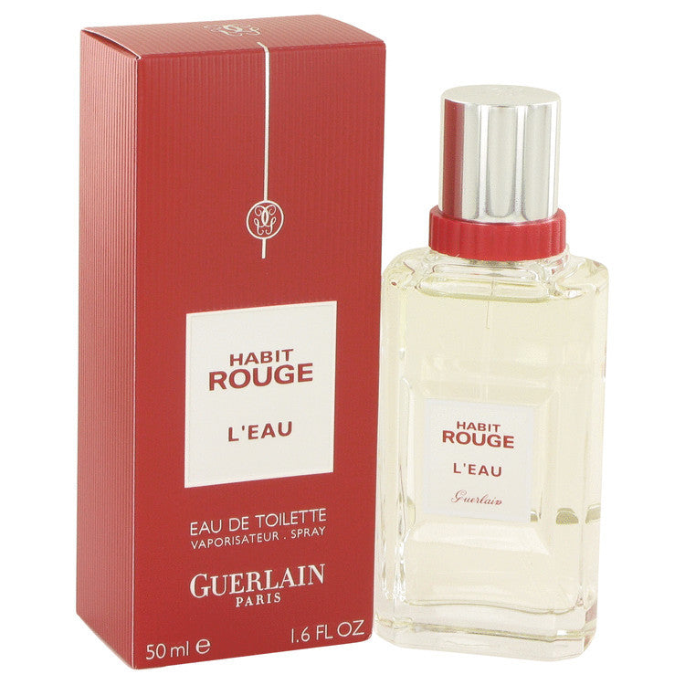 Habit Rouge L'eau by Guerlain Eau De Toilette Spray (Tester) 3.3 oz (Men)