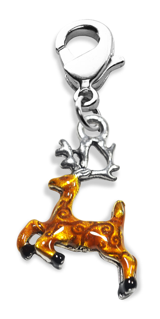 Reindeer Charm Dangle in Silver