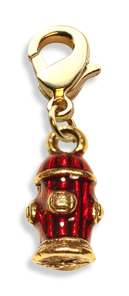 Fire Hydrant Charm Dangle in Gold