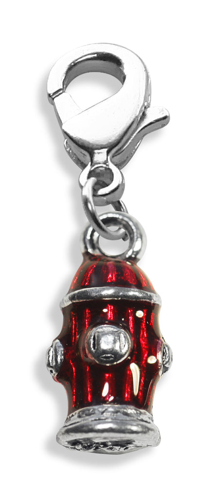 Fire Hydrant Charm Dangle in Silver