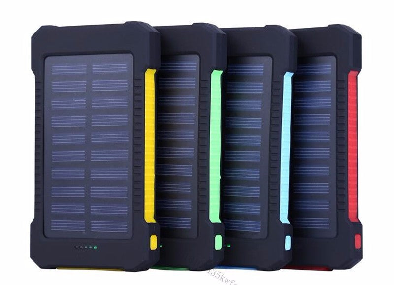 2018 New Portable Waterproof Solar Power Bank 20000mah Dual-USB Solar Battery powerbank External Battery Pack For iPhone X 8Plus