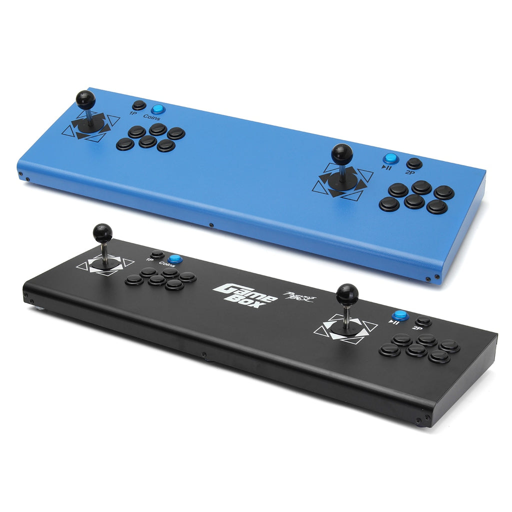 815 In 1 Box 4s Video Games Arcade Console Machine Double Stick Gifts 2 Players Control USB Joystick Blue Black
