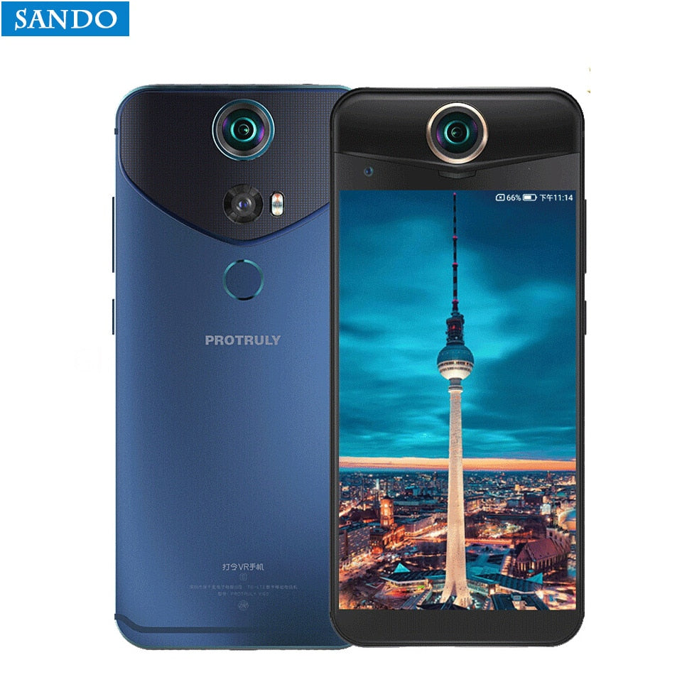 "Global PROTRULY V10S Smartphone 360 Degree 26MP 3D VR Full View Android 7.1 Snapdragon 625 Octa Core 4G LTE 5.5"" FHD 4+64G 9V2A"