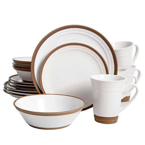 Gibson Elite Brynn 16-Piece Dinnerware Set, White