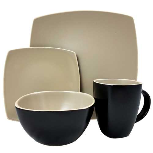 Gibson Home Infinite Glaze Matte 16 Piece Dinnerware Set