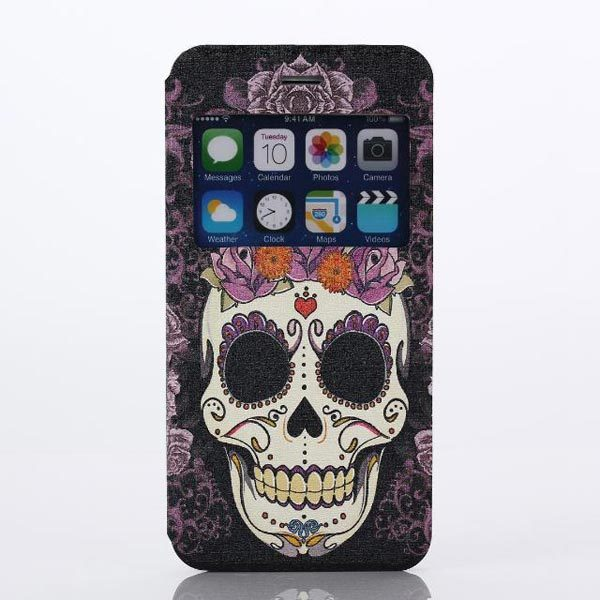 Skull Head Pattern PC Hard Cover Case Protector For iPhone 6 Plus