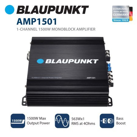 Blaupunkt Amplifier 1500 Watts Mono 2 Ohm stable