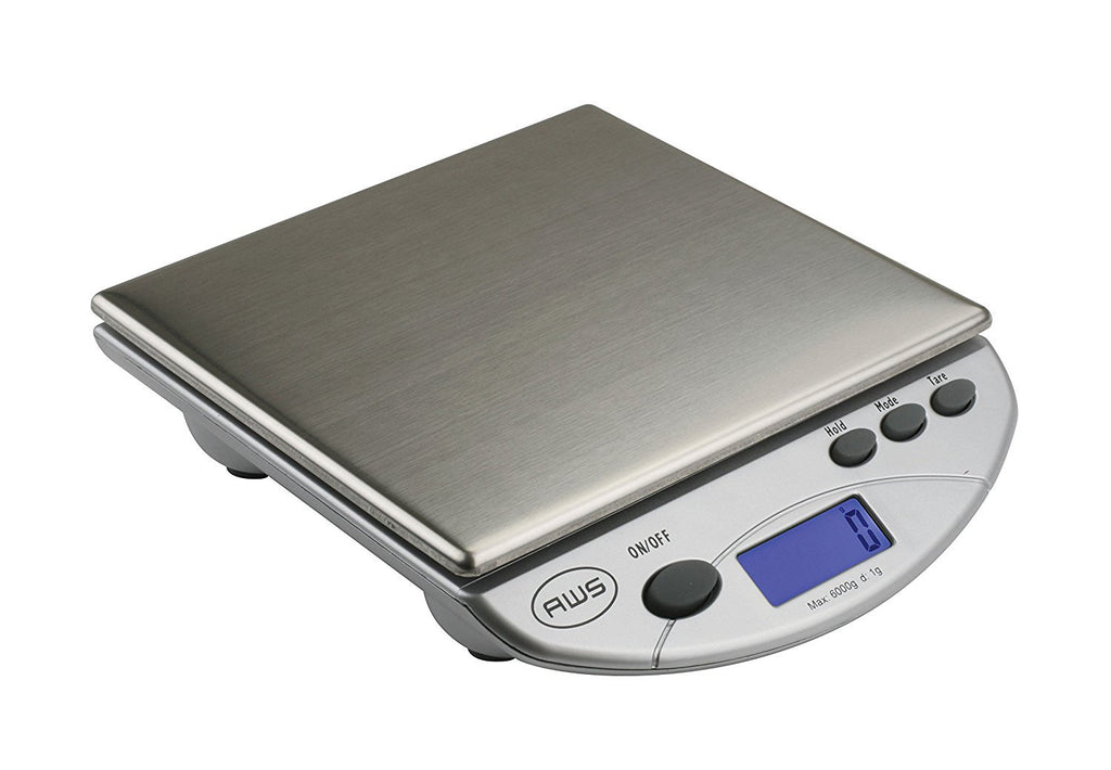American Weigh Scales Silver AMW13-SL Digital Postal Kitchen Scale 13 LB by 0.1 OZ
