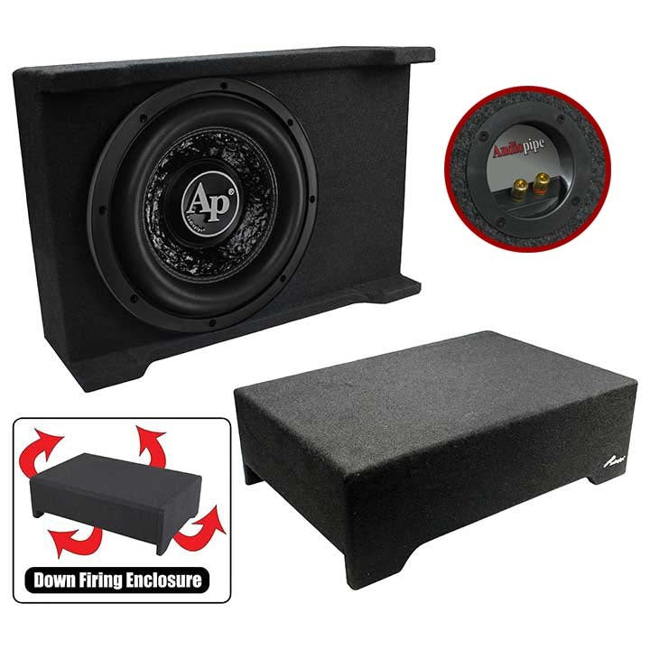 "Audiopipe 12"" Loaded Sealed Enclosure 800 Watts Shallow Mount 4 ohm"