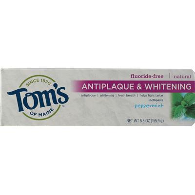 Tom's Of Maine Peppermint, Tartar Control+Whitening Toothepaste (6x5.5 Oz)