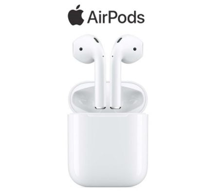Apple AirPods Bluetooth Wireless Earbud True Earphones with Mic