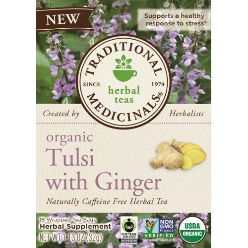 Traditional Medicinals Tulsi With Ginger  (6x16 BAG )
