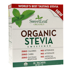 SweetLeaf Organic Stevia Sweetener Packets (1x35 Ct)