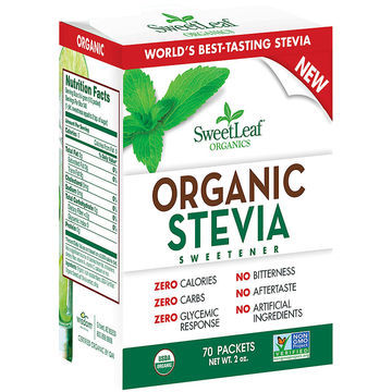 SweetLeaf Organic Stevia Sweetener Packets (1x70 Ct)