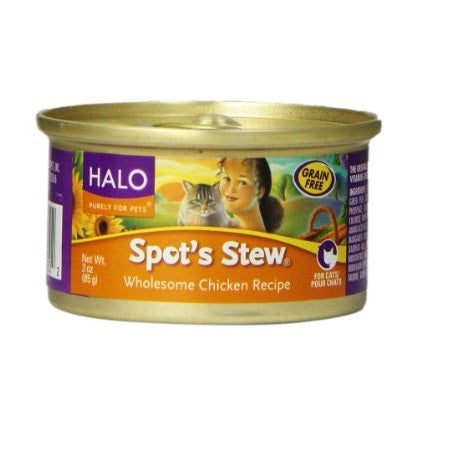Halo Chicken Wet Cat Food (12x3OZ )