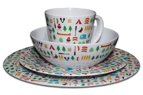 32 PIECE BERROW HILL MELAMINE SET