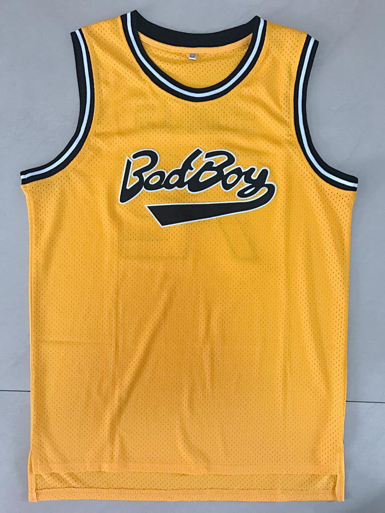 d8269e9dd1d7 Biggie Smalls  72 Bad Boy Notorious BIG Basketball Jersey Stitched YELLOW