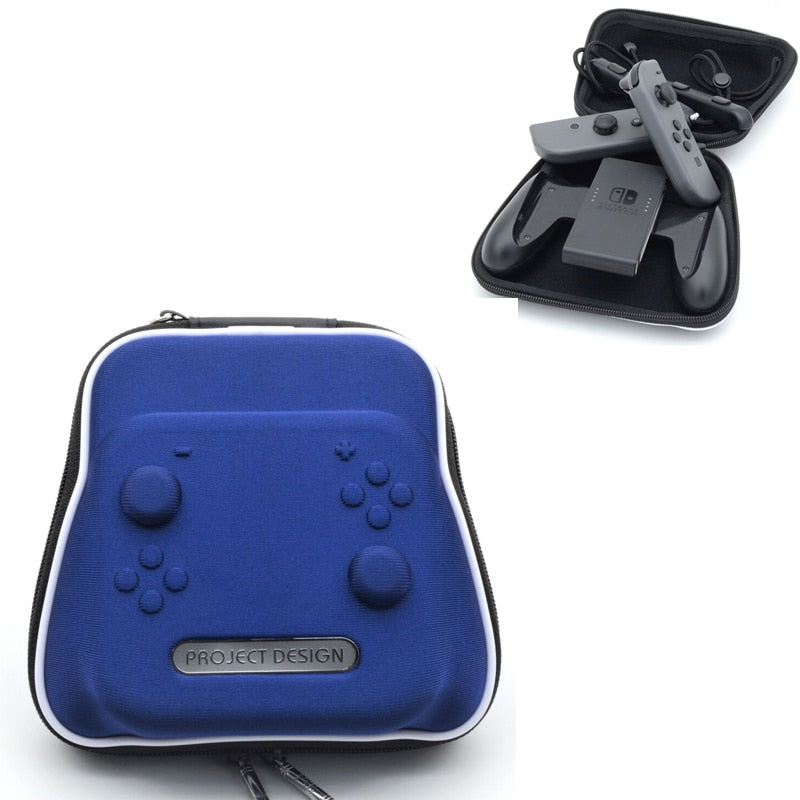 Blue Travel Carry Pouch Case For Nintend Switch Nintendo NS Carrying Travelling Bag Controller Gamepad Joystick Accessories