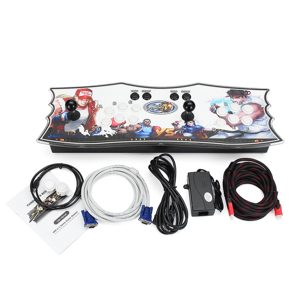 Box 4S 815 in 1 Dual Player Double Black Joystick Arcade Game Console Controller VGA HDMI USB Video Coin Operated Games