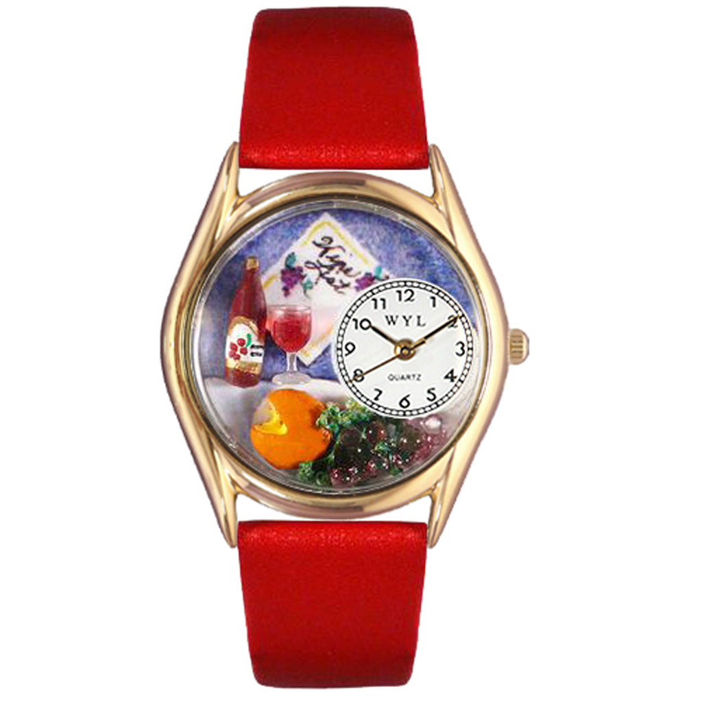 Wine & Cheese Watch Small Gold Style
