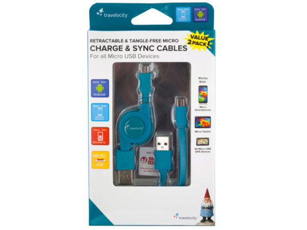 Travelocity Micro Charge & Sync Cables ( Case of 8 )