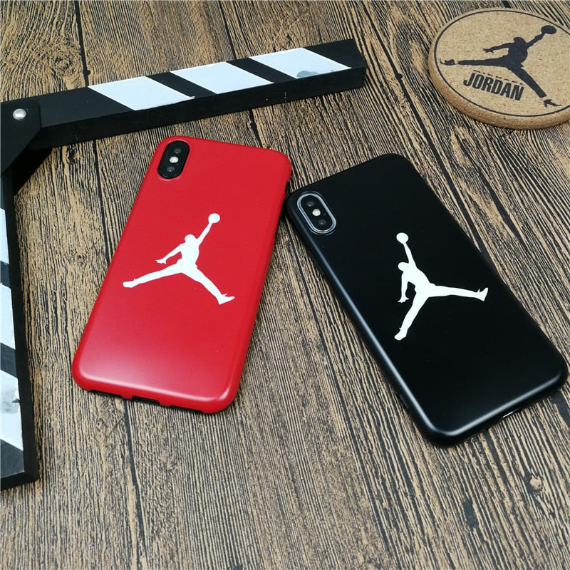 Flying man AIR Jordan soft case for iphone X XS MAX XR 10 8 7 6 6S plus phone cover luxury matte silicone Sports coque fundas