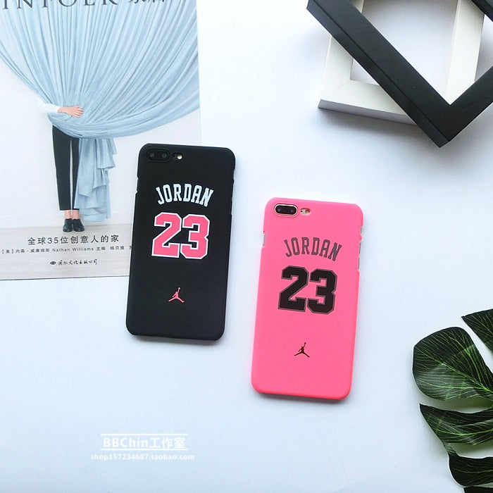 For Iphone 5 5s Se 6 6plus 6s Plus 7 7plus 8 X Scrub Case Air Jordan High Quality Pc Plastic Sup Phone Cover Sport Style Coque