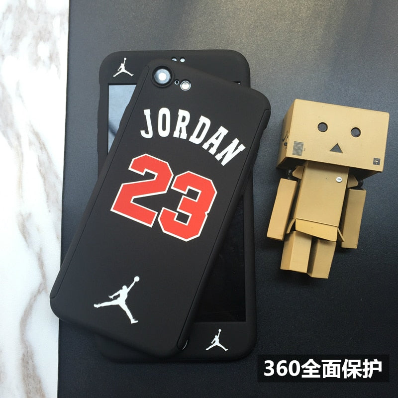For Iphone 6 6plus 6s Plus 7 7plus 8 360 Full Protection Case Hard PC Plastic Luxury Jordan Kobe Bryant Curry Phone Cover CASES