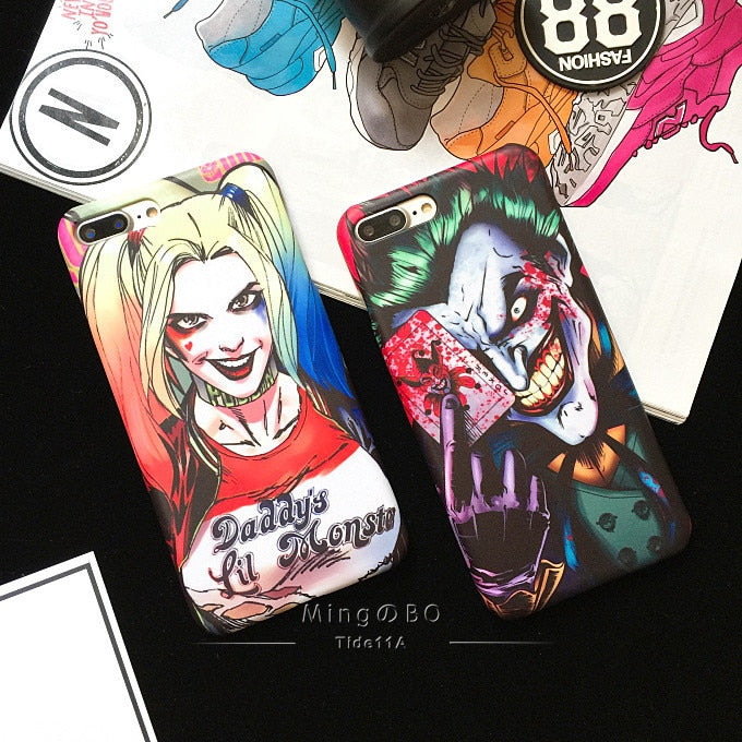 For iPhone 6 6plus 6s plus 7 8 7plus i8 cover high quality plastic PC hard Joker Batman matte case phone shell capa coque