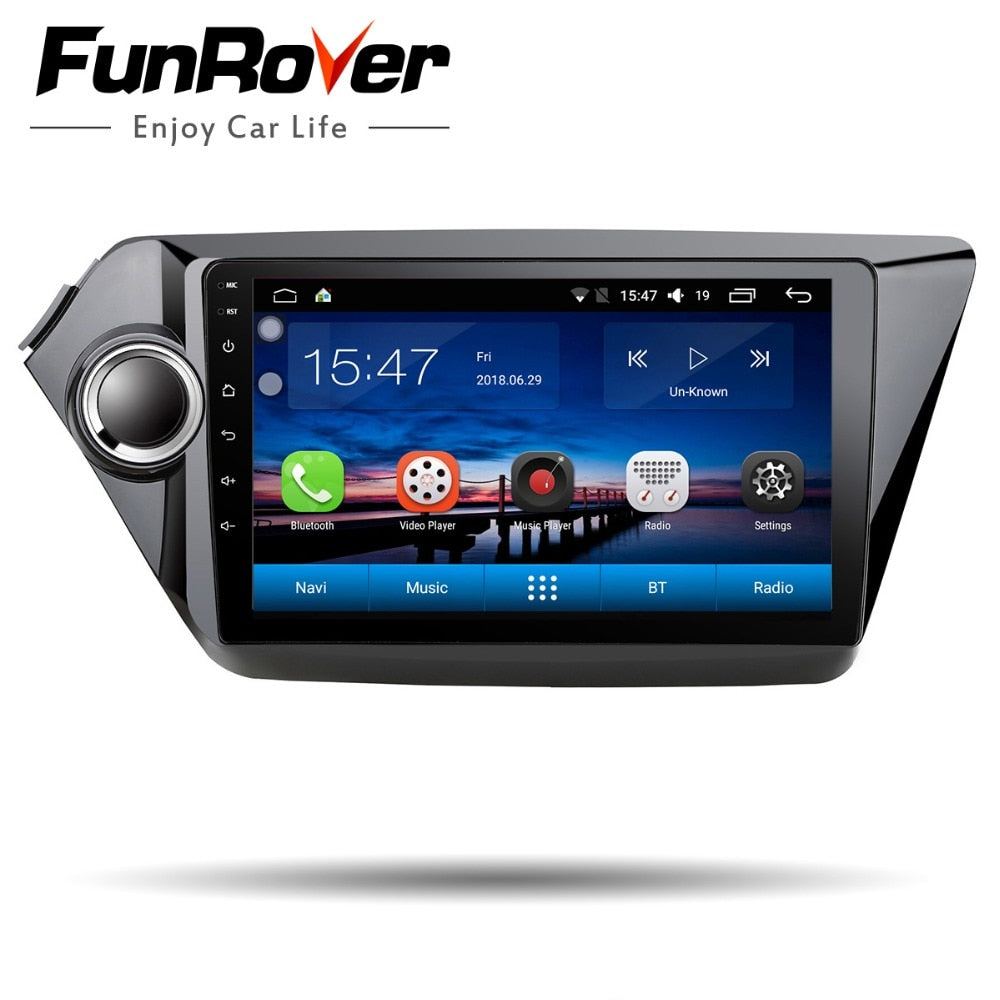 Funrover 2 din car dvd player for kia k2 Rio 2010 2011 2012 2013 2014 2015 2016 2017 gps navigation car radio tapte recorder RDS