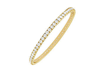 Diamond Eternity Bangle : 14K Yellow Gold 3.00 CT Diamonds