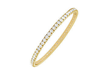 Diamond Eternity Bangle : 14K Yellow Gold 5.00 CT Diamonds