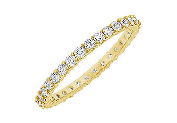 Diamond Eternity Bangle : 14K Yellow Gold 6.00 CT Diamonds