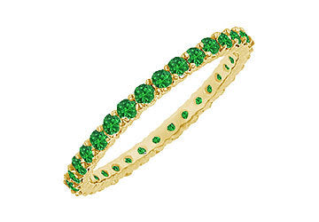 Emerald Eternity Bangle : 14K Yellow Gold - 6.00 CT TGW