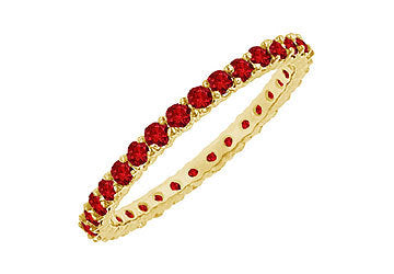 Ruby Eternity Bangle : 14K Yellow Gold - 6.00 CT TGW