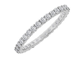 Diamond Eternity Bangle : 18K White Gold - 10.00 CT Diamonds